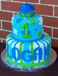 1st Birthday Cupcake Cake for Boys Birthday cakes Image search