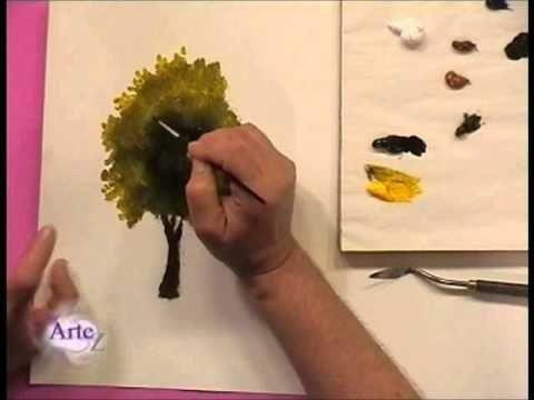 C mo pintar rboles y follajes al leo pinteres - Como pintar al oleo paso a paso ...