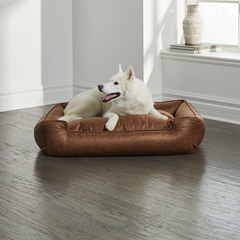 Lounge Faux Leather Vintage Medium Dog Bed In 2019 Dog Beds For
