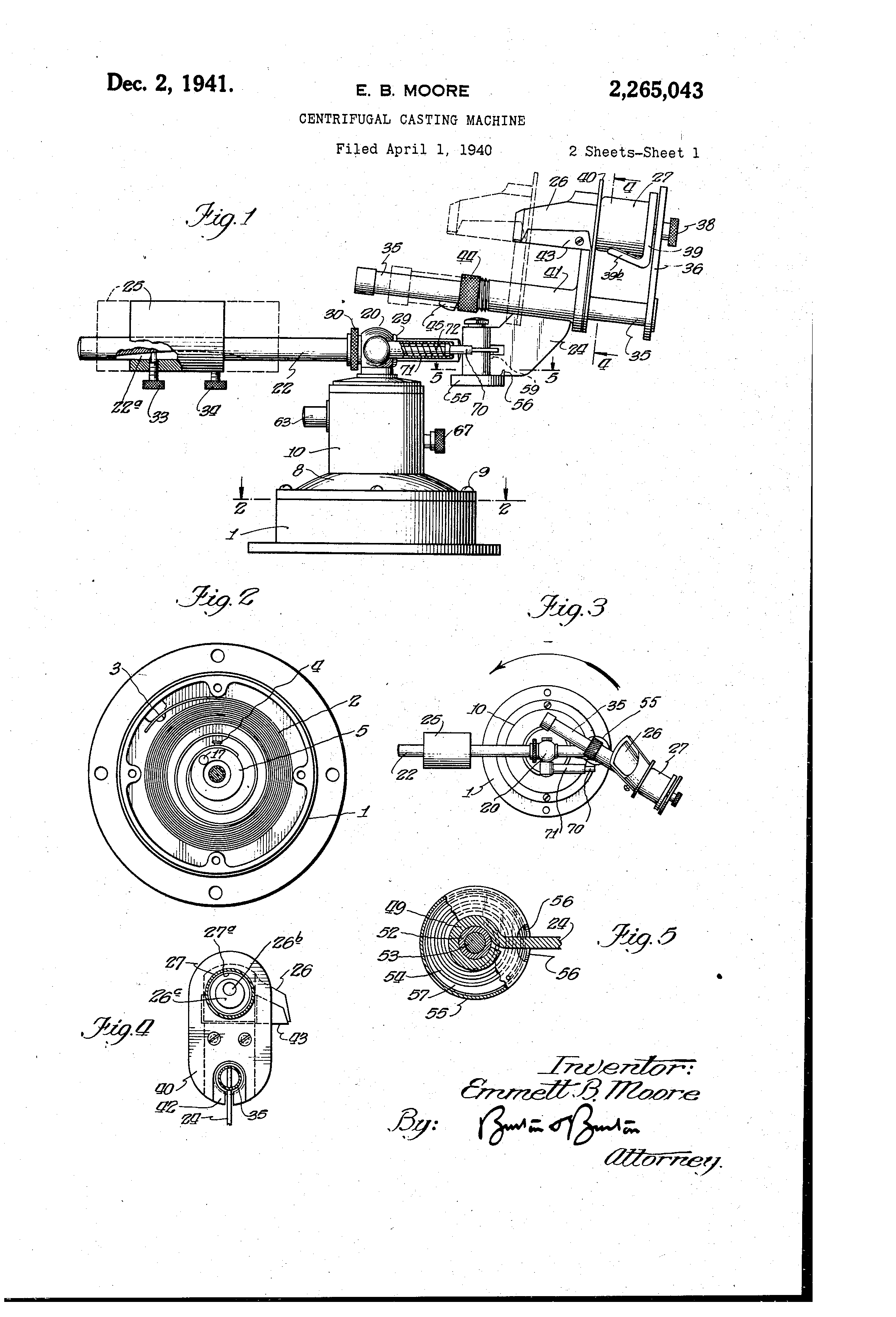 Metal With Images Casting Machine It Cast Patent Drawing