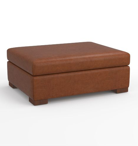 Brilliant Wrenton Leather Ottoman For 8 Sofa In 2019 Leather Ibusinesslaw Wood Chair Design Ideas Ibusinesslaworg