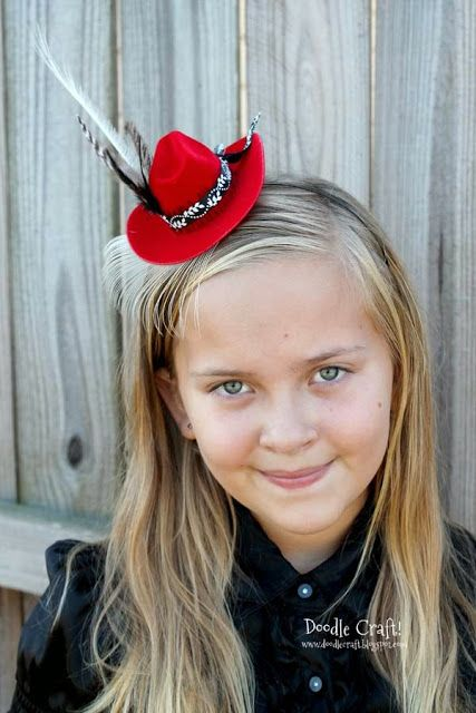 31e3c3ea651a0 Doodlecraft  Mini Cowgirl Hat Headband