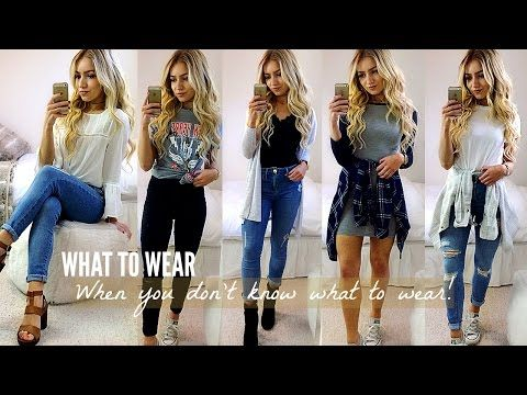 4c8b456bb61 WHAT TO WEAR WHEN YOU HAVE NOTHING TO WEAR! OUTFIT IDEAS 2017 - YouTube