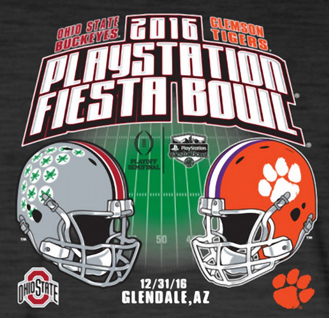 12 31 2016 Game 13 Clemson Vs The Fiesta Bowl Cfp Semifinal T Shirt Ohio State Game Ohio State Football Ohio State