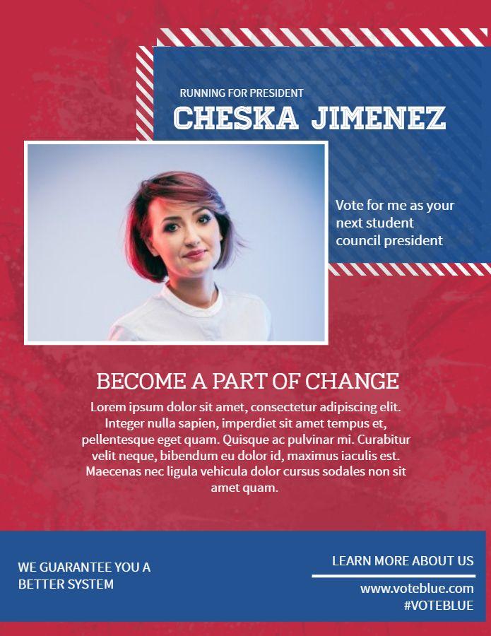 Patriot Colors Election Campaign Poster Flyer Template Election