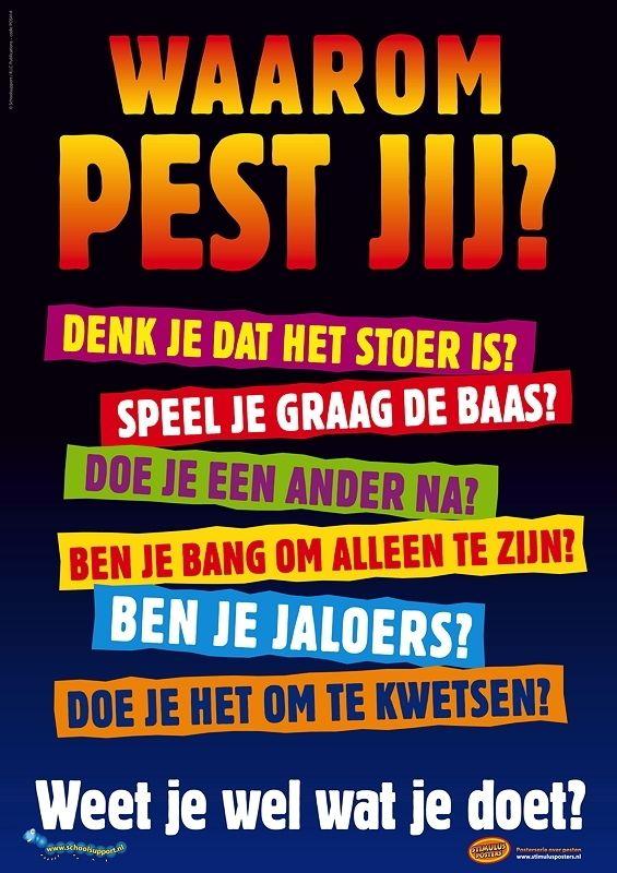 De pest aan pesten! - posterserie