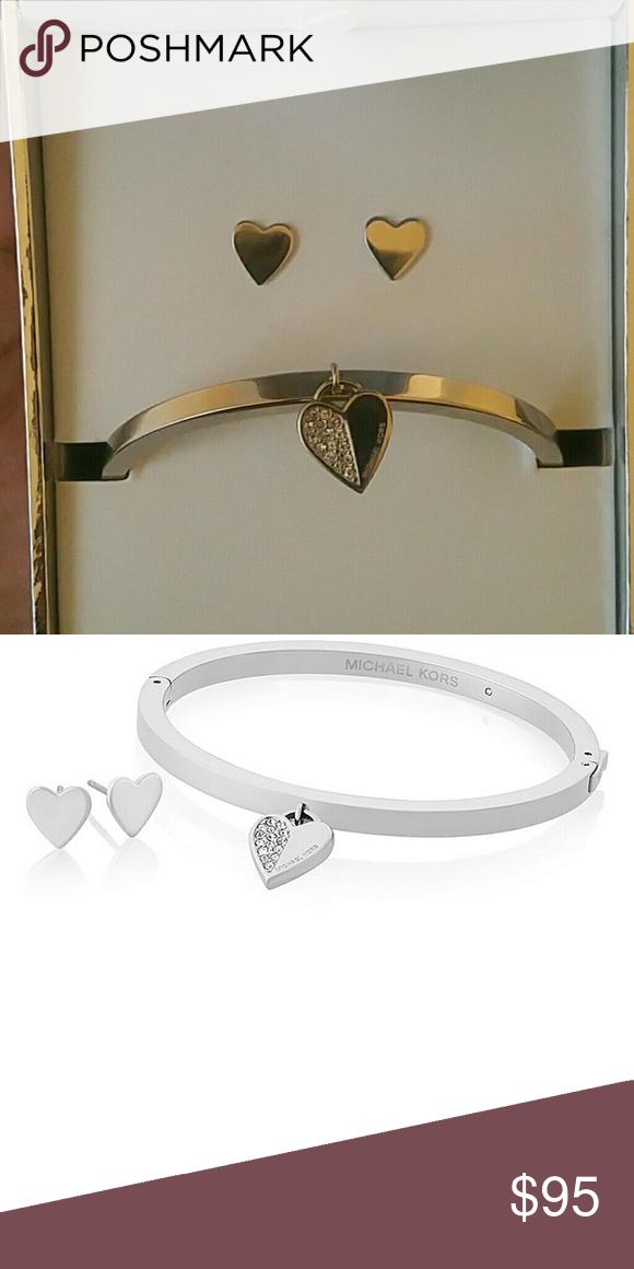 pre order new york details for Michael Kors Bracelet and Earring Set Silver Michael Kors ...