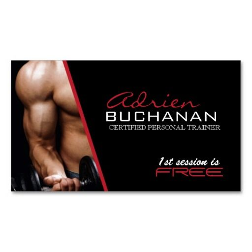 Certified Personal Trainer Business Card Templates