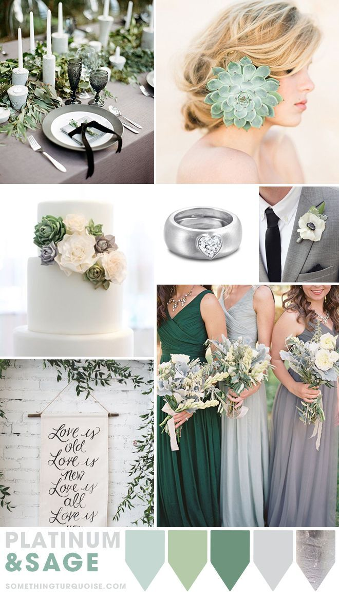Platinum And Sage Wedding Theme Ideas Gorgeous Color Pallette
