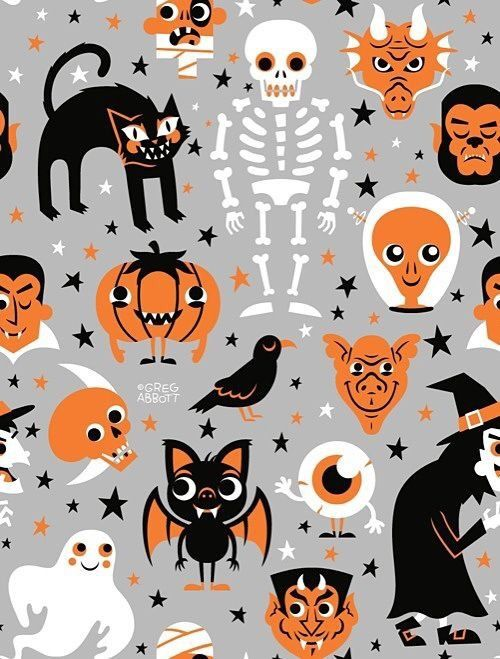 iPhone Wallpapers — Super cute halloween set Halloween