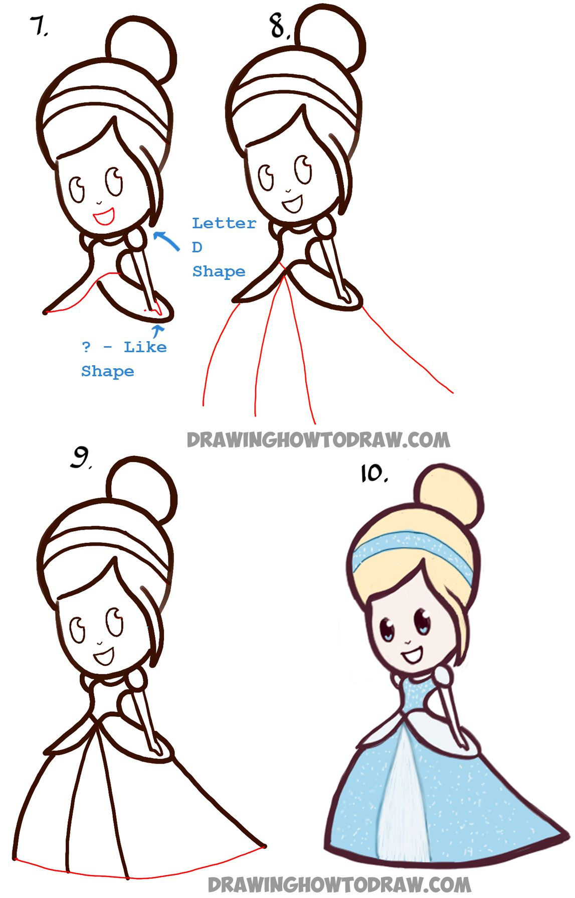 How To Draw Cute Baby Chibi Cinderella Easy Step By Step Drawing Tutorial How To Draw Step By Step Drawing Tutorials Cute Baby Drawings Cute Drawings Baby Drawing Easy