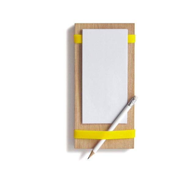 Notizblockhalter Magnet gelb von softes auf DaWanda.com