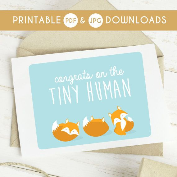 New Baby Card Printable Baby Card Boy Card Baby Greeting Card