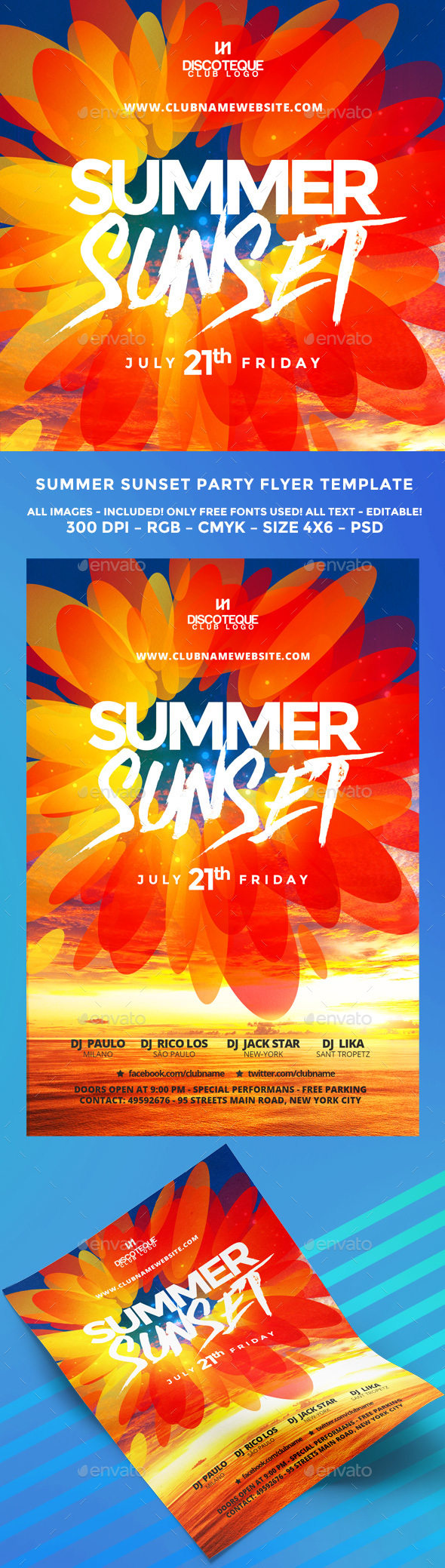 Summer flyer flyer template template and party flyer psd wonderful summer flyer template only available here httpgraphicriver saigontimesfo