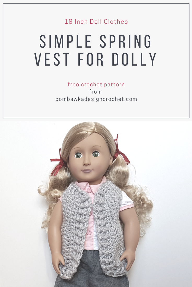 18 Inch Doll Clothes – Simple Spring Vest for Dolly