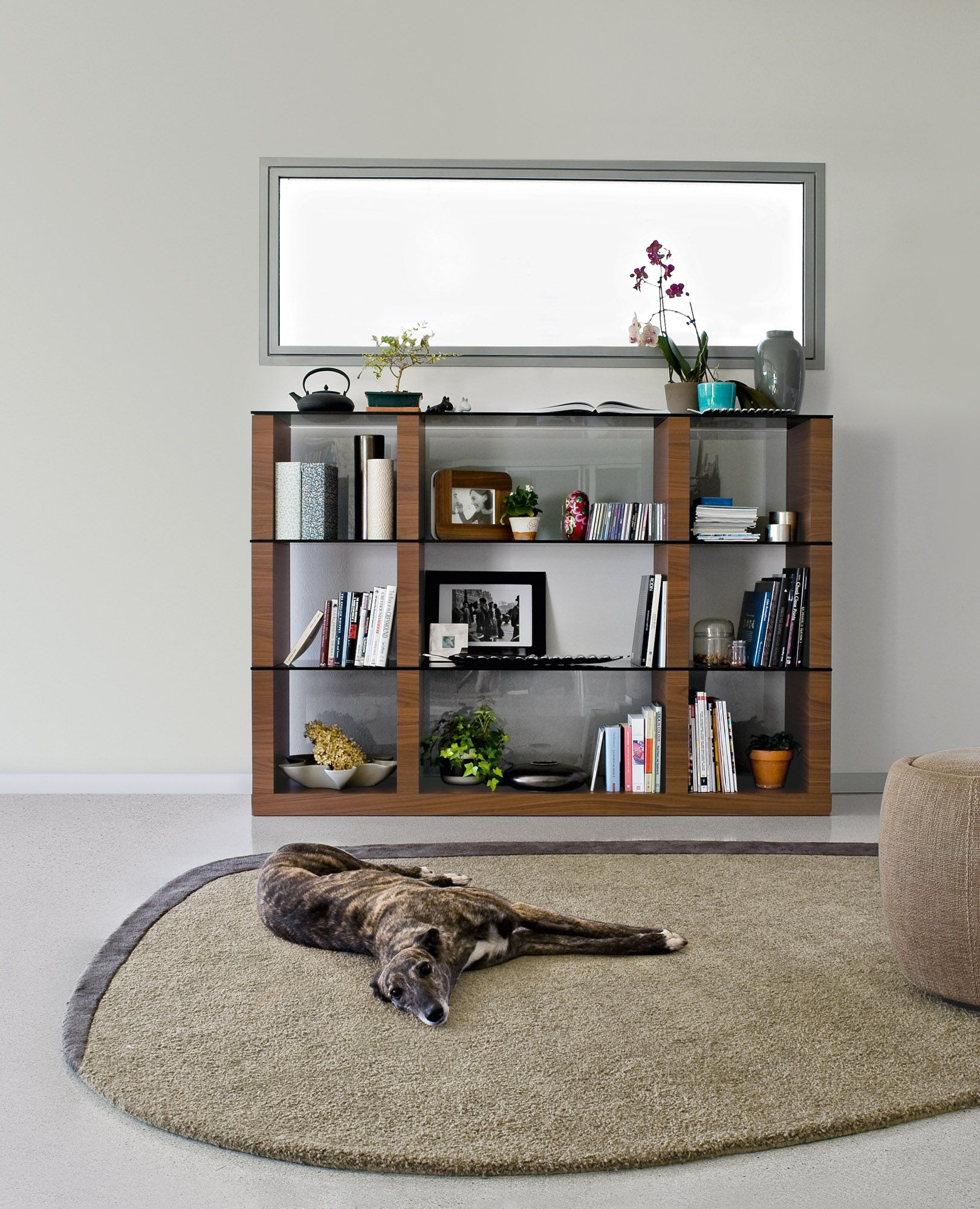 Lib bookcase is consisting of modules with vertical compartments