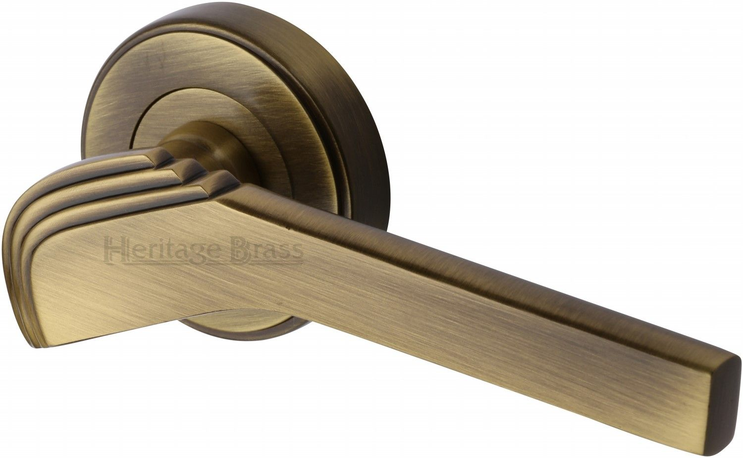 Stunning tiffany lever door handle on concealed fix round rose