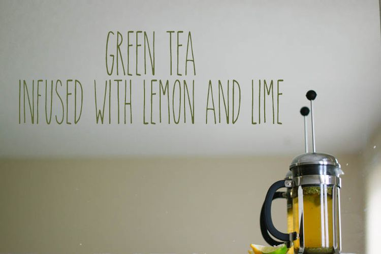 Green Tea Infused with Lemon and Lime Recipe | Mallorie Owens