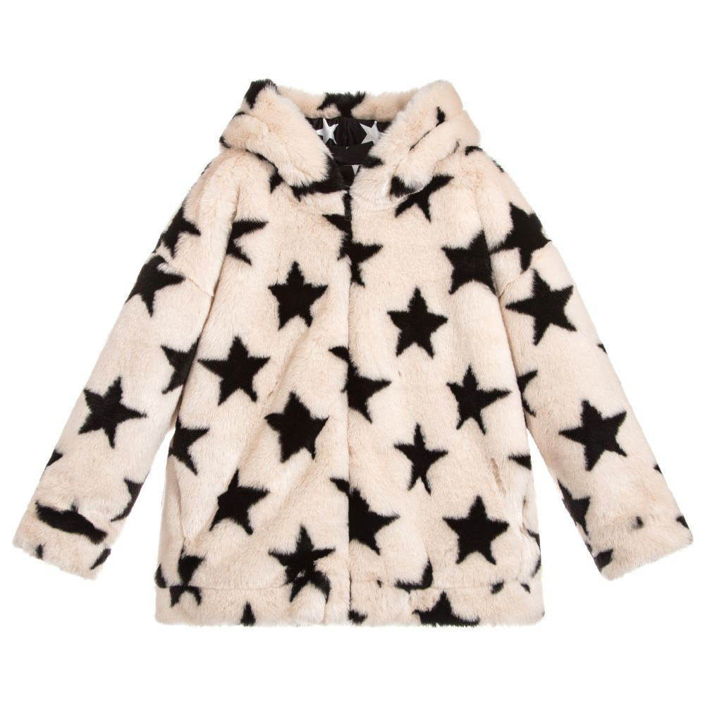 c493aed2cf Girls Ivory Fur Jacket for Girl by Monnalisa. Discover more ...