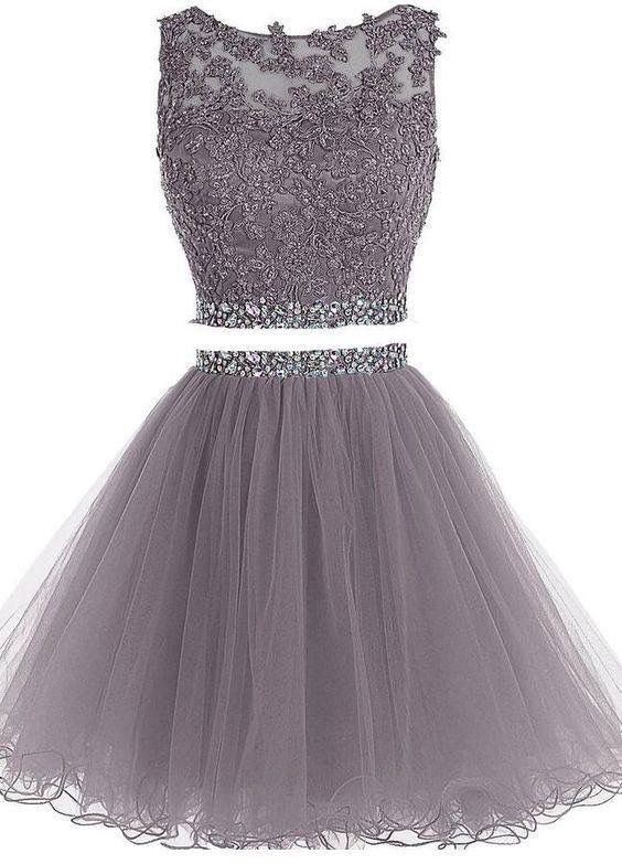 pieces short homecoming dresses beading pom th grade prom piece also pin by ha na ho on ropa ideas tul in pinterest rh