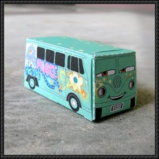 This Cute Paper Car Is Fillmore From Film Disney Pixar Cars The Toy Created By A Day Character In And 2 Fir
