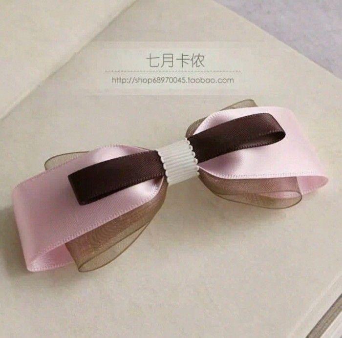蝴蝶结发饰 粉色系