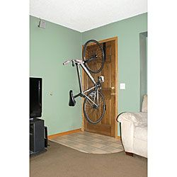 One Bike Vertical Door Mount Storage Simply Slides Over The Top Of Any  Standard Sized Door For Easy, Portable And Non Permanent Storage Of One  Bicycle.
