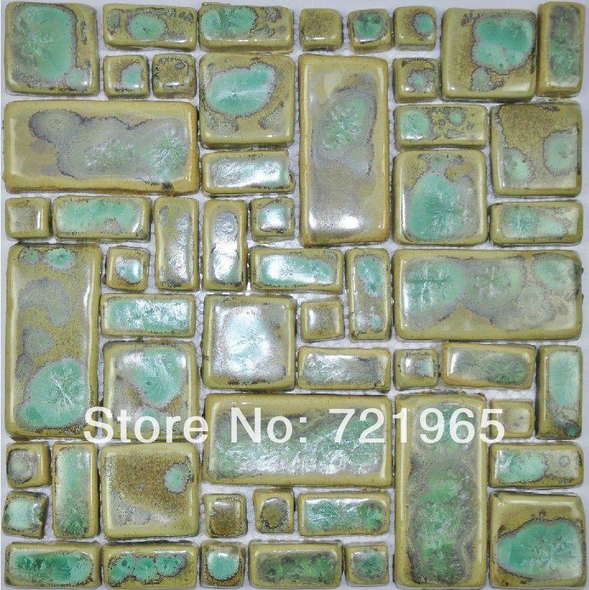 hand craft porcelain mosaic kitchen wall tiles backsplash pcmt076