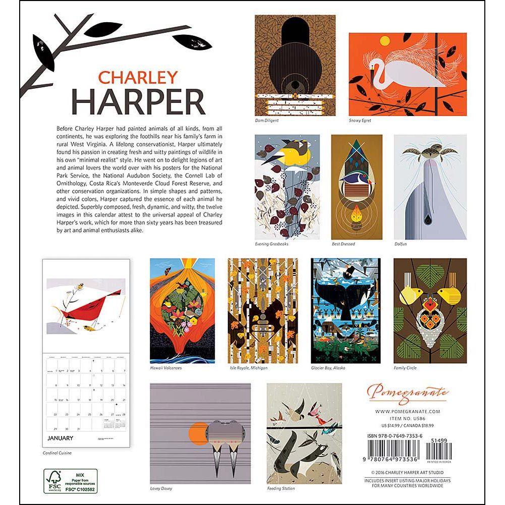 Charley Harper Wall Calendar: 9780764973536     Calendars.com Charley Harper,  Calendar 2017