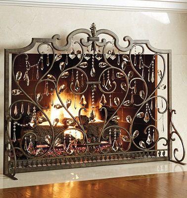 louviere fireplace screen decorative accents fireplace screens rh pinterest com