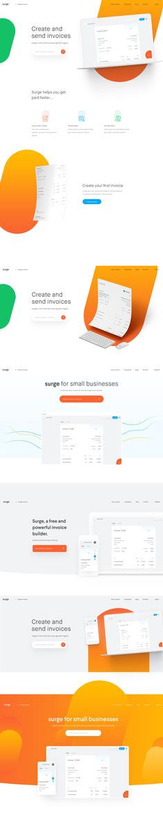 Headerdesigns web design Pinterest Homepage design and Ux design - invoice builder