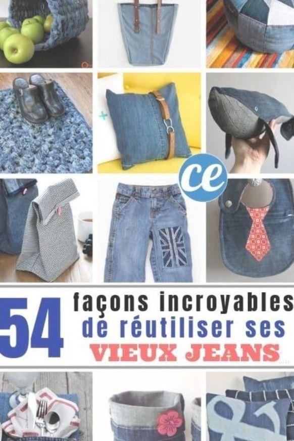 54 Façons Incroyables de Réutiliser Ses Vieux Jeans. #vieuxjeans