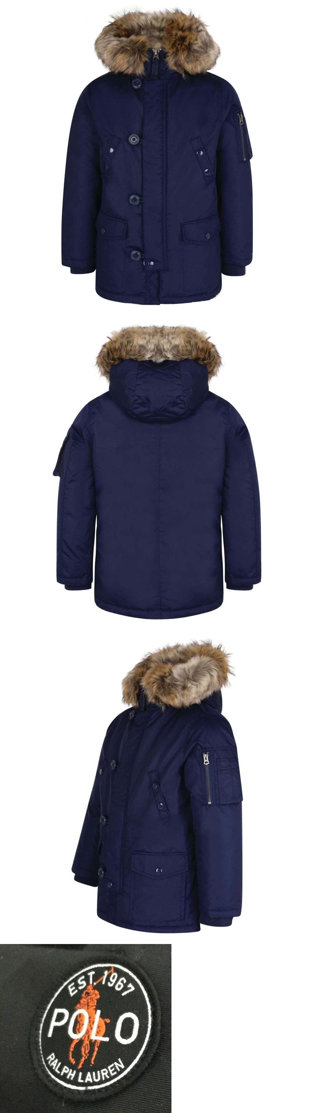 cd06dc865474 Outerwear 51933  Polo Ralph Lauren Boys Fur Trim Winter Coat Jacket  Outerwear Choose Color