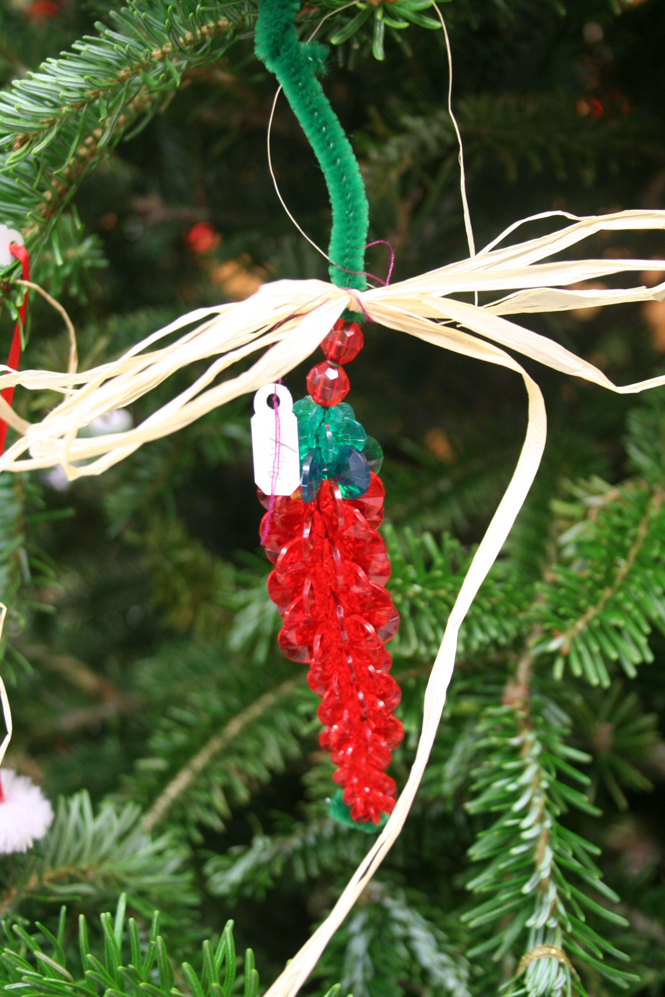 Third Grade - Beaded Chili Pepper Ornament