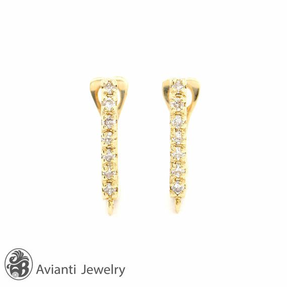 Yellow Gold Earrings, Diamond Earrings, Earrings | LDR01603  #gold #diamond #gold #yellowgold #14kt #handmade #gift #giftideas