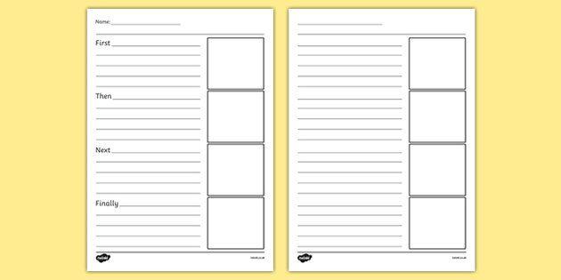 writing frames templates
