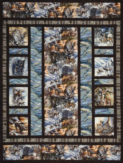 Alaska's Wild Kingdom Quilt Kit-QuiltAlaska | Quilts | Pinterest ... : wildlife quilt fabric - Adamdwight.com