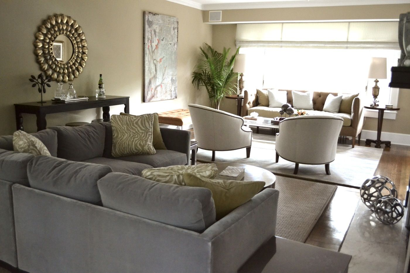 Living room with two seating areas  Future Living Room in 2019  Rectangular living rooms