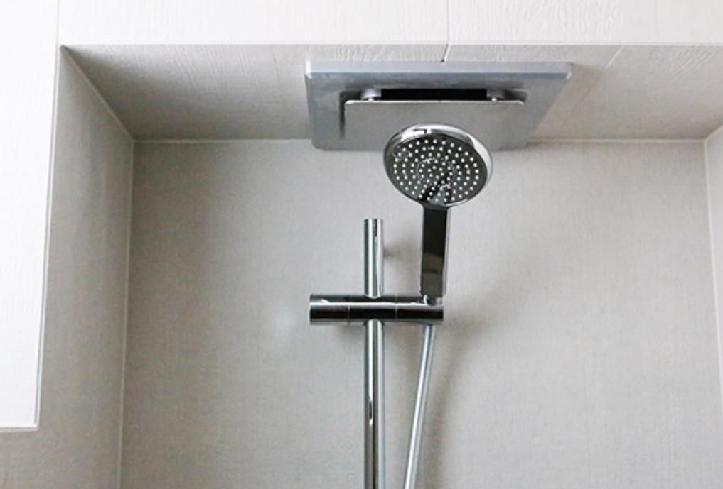 exhaust fan above moveable shower head Alisa and Lysandra THe ...