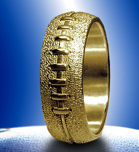 ms football wedding band i think my hubby would love this but silver or - Sports Wedding Rings