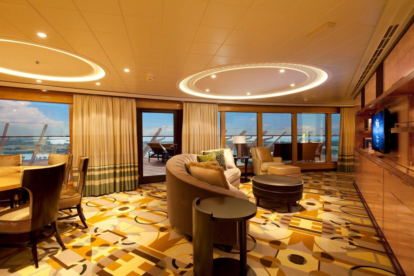 Innenarchitektur außerhalb disney cruise line royal suite stateroom cruising first class