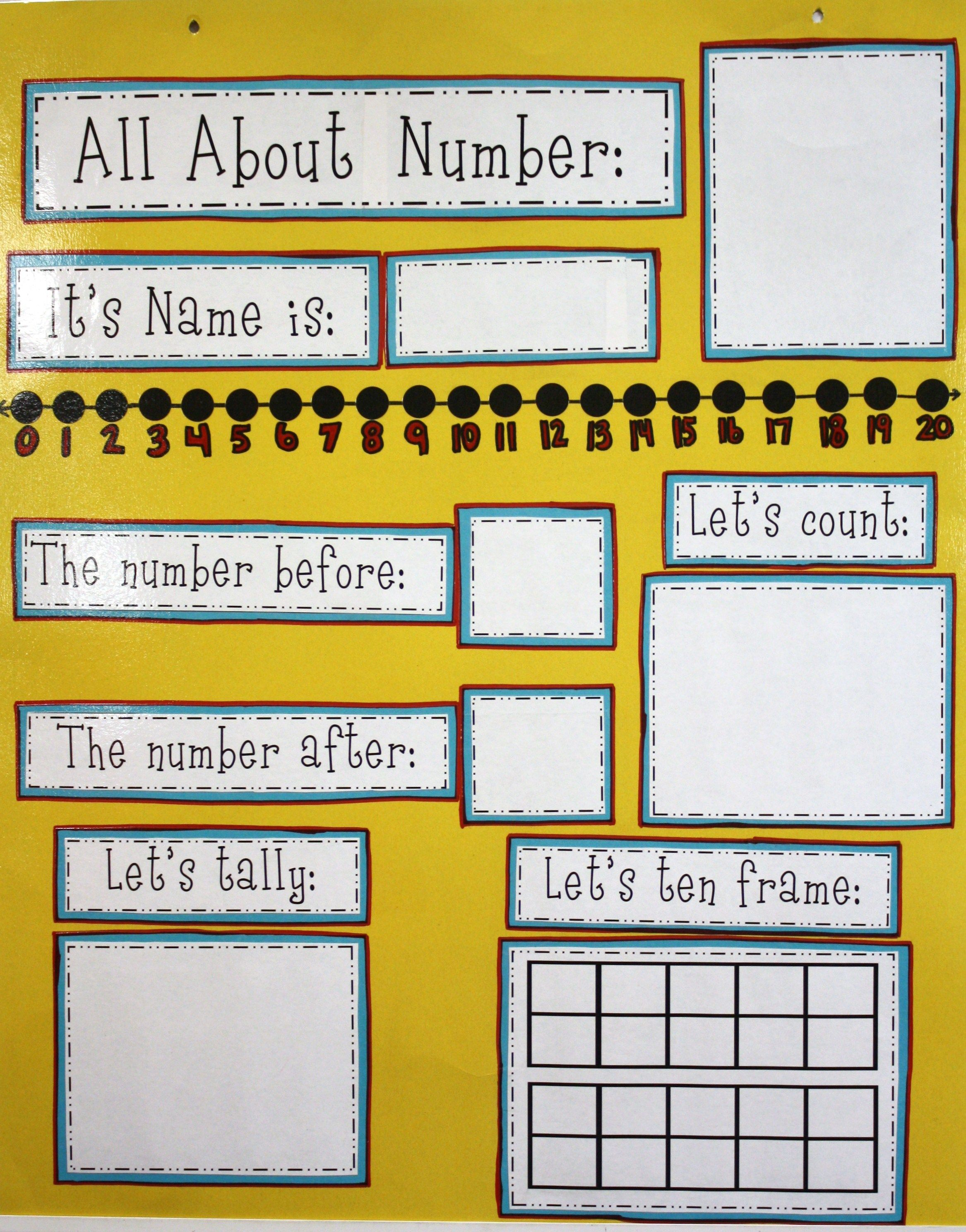 All About Number Poster Add Expanded Form 10 Less 10 More Classroom
