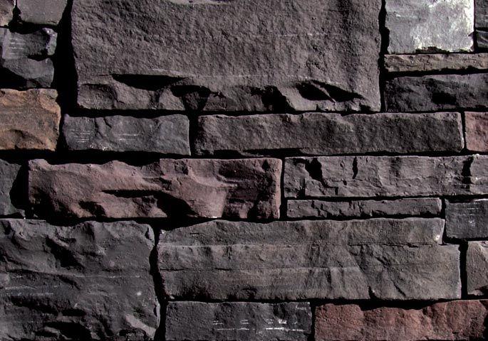 Coronado Yukon Rubble Black Rundle Fireplace Wall