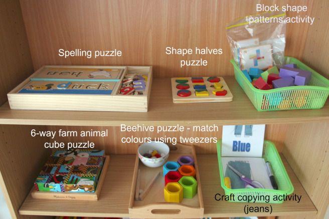 Our Montessori Inspired Activity Shelf 3 5 Year Old Montessori