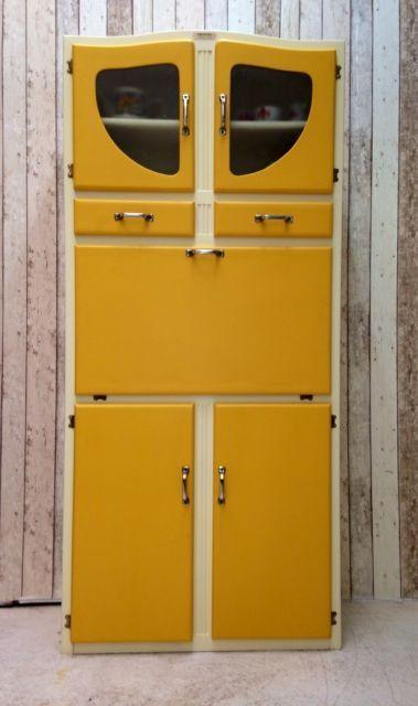 Vintage Retro Kitchen Cabinet Cupboard Larder kitchenette 50s 60s Mid Century…