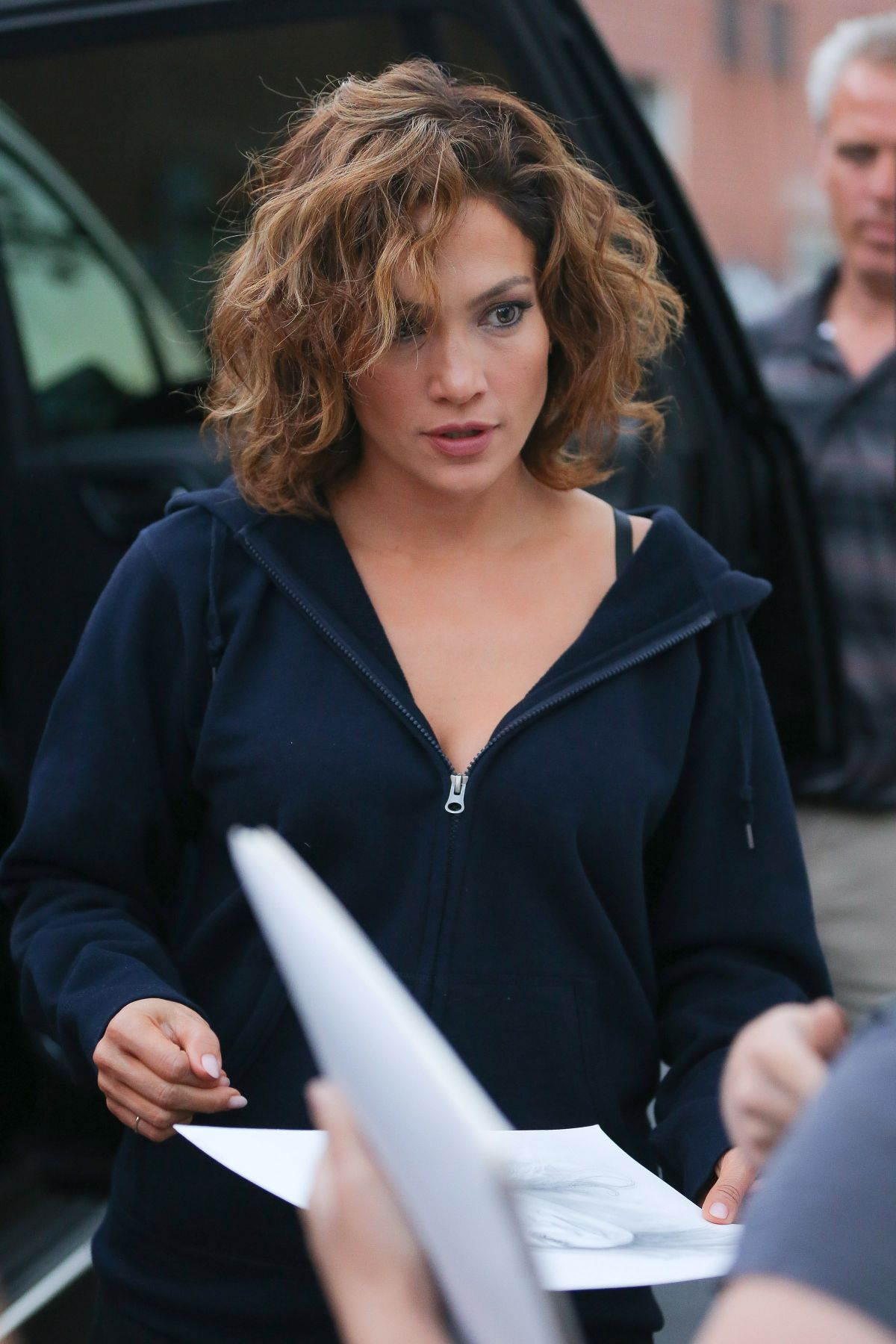 JENNIFER LOPEZ at Shades of Blue Set in New York 07 23 2015