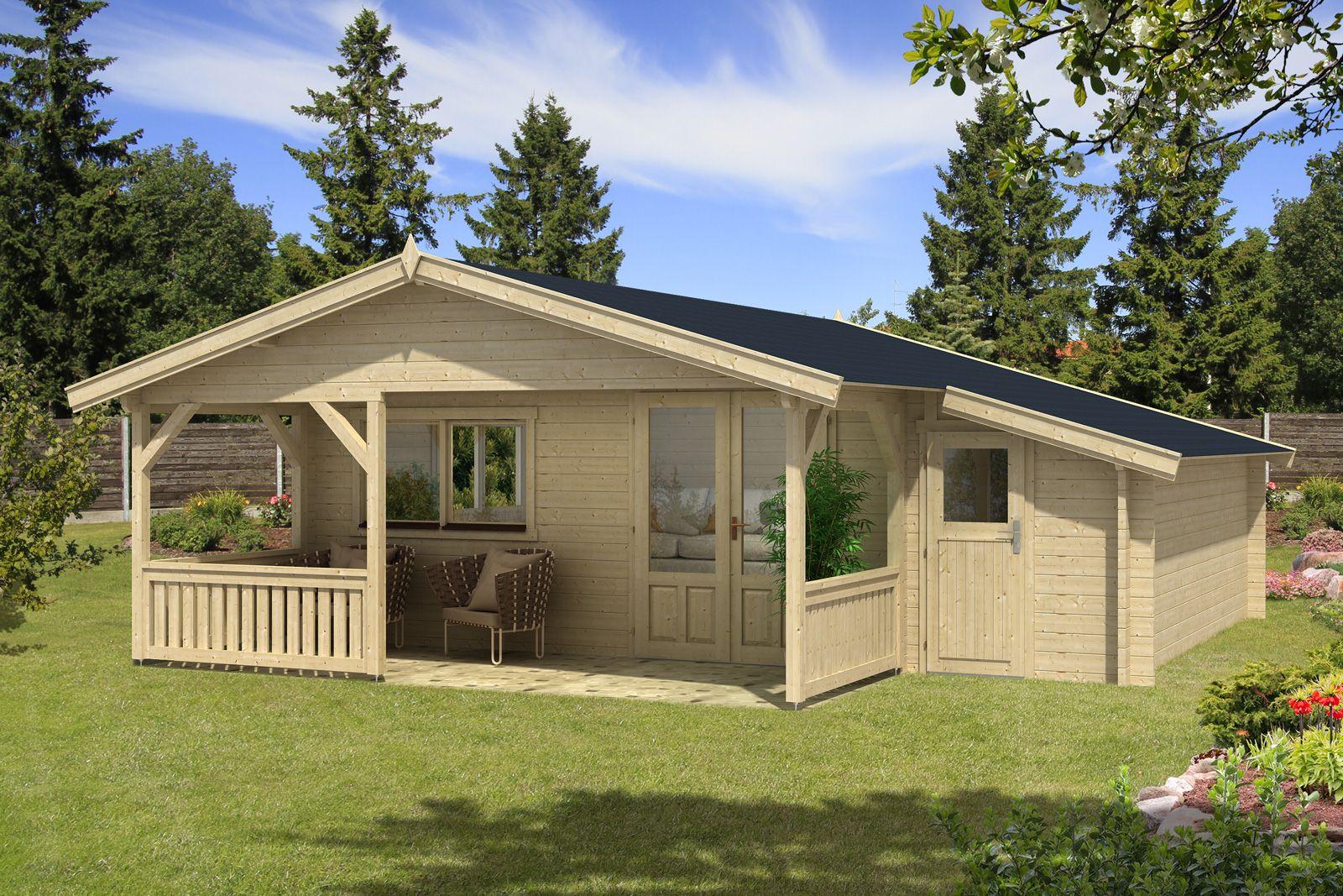 Attractive Gartenhaus Flex 50 E Mit 200cm Terrasse + Anbau 5x5+2Z   A Z Gartenhaus GmbH