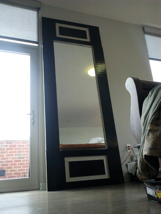 This Is A Big 10 Foot Tall Mirror That I Built And Painted The Ends Are Door Pieces Tall Mirror Mirror Decor