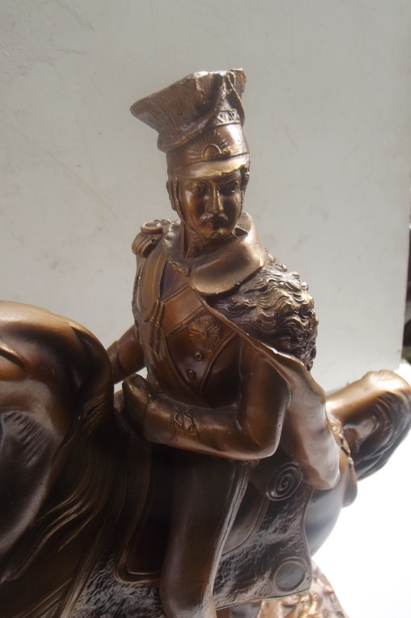 Potezna figura Ksiaze Józef Poniatowski na koniu