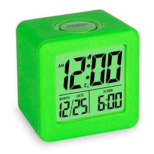 Plumeet Easy Setting Digital Travel Alarm Clock With Snoo Travel Alarm Clock